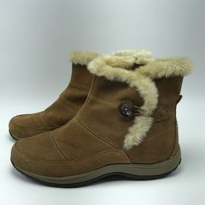 Easy Spirit Stories Fur Suede Ankle Boots - Size 9